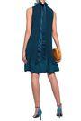 TIBI Ruffled plissé crepe de chine mini dress