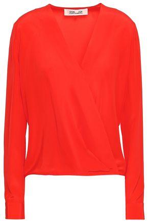 DIANE VON FURSTENBERG Wrap-effect silk crepe de chine blouse