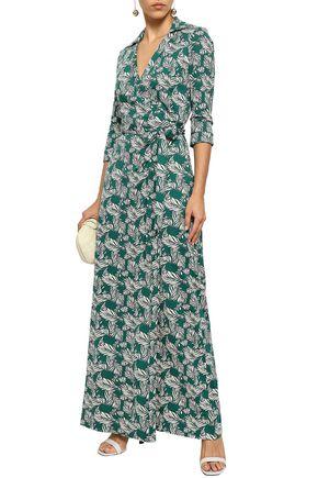 2e203070 DIANE VON FURSTENBERG Printed silk and cotton-blend jersey maxi wrap dress