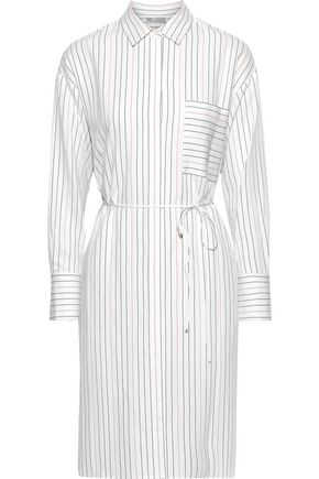 VINCE. Pinstriped poplin shirt dress