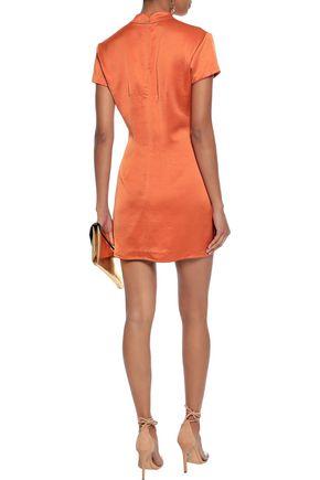 DE LA VALI Suki appliquéd satin mini dress