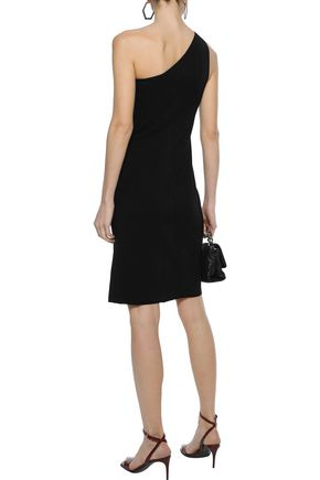 HELMUT LANG One-shoulder stretch-twill dress