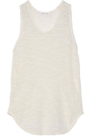 HELMUT LANG Burnout-effect silk tank