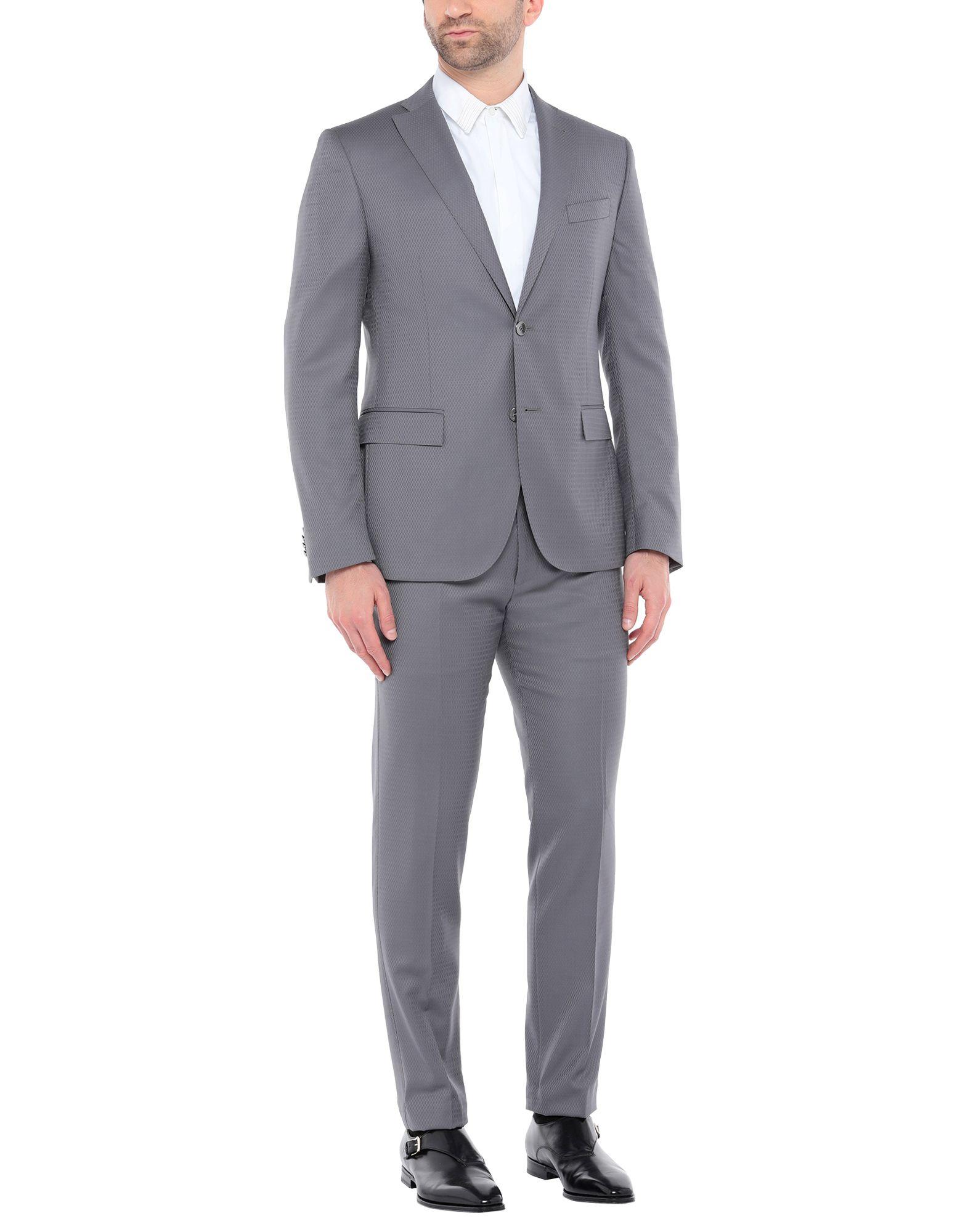 《セール開催中》CC COLLECTION CORNELIANI メンズ スーツ グレー 50 バージンウール 100%