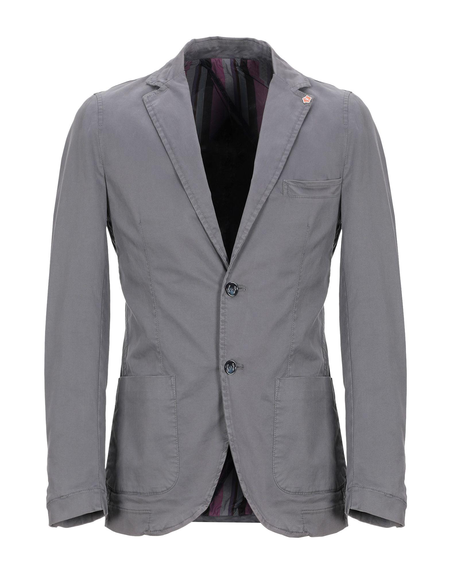 《期間限定セール開催中!》FIFTIETH メンズ テーラードジャケット ドーブグレー 46 コットン 97% / ポリウレタン 3%