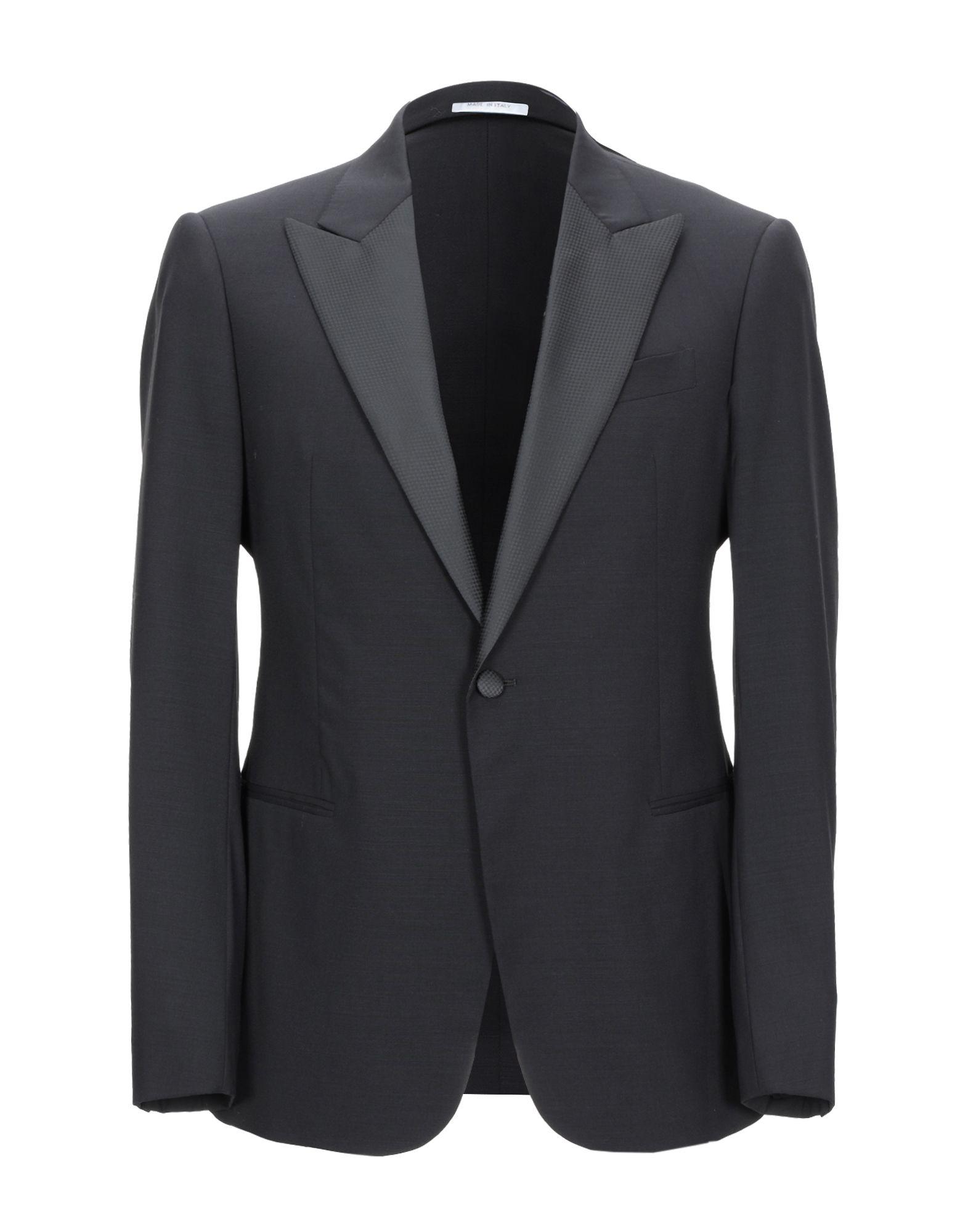 《セール開催中》ARMANI COLLEZIONI メンズ テーラードジャケット ブラック 48 バージンウール 100% / ポリエステル
