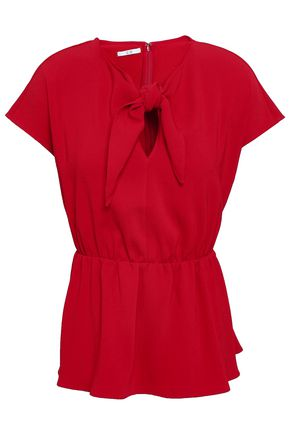 CO Knotted cady peplum top