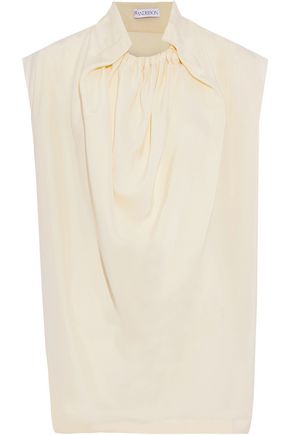 J.W.ANDERSON Draped washed-silk blouse