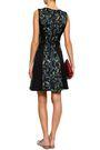 DKNY Flared floral-print scuba mini dress