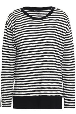 DKNY Striped cotton-jersey top