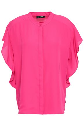 DKNY Draped crepe shirt