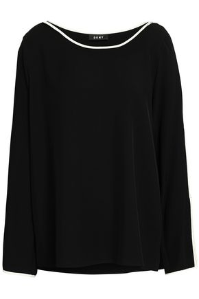 DKNY Bow-detailed twill top