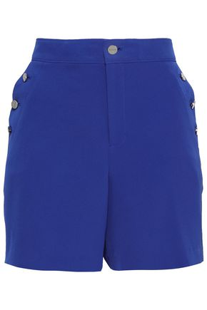 DKNY Button-detailed crepe shorts