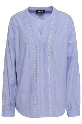 DKNY Cotton-blend chambray blouse