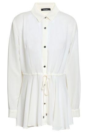 DKNY Gathered crepe shirt