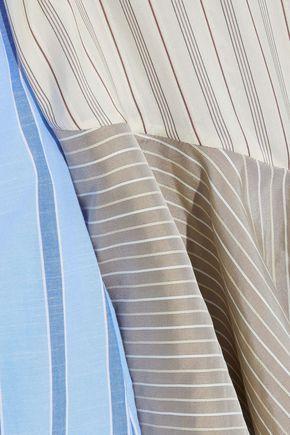 J.W.ANDERSON Asymmetric patchwork silk-jacquard, poplin and gauze top