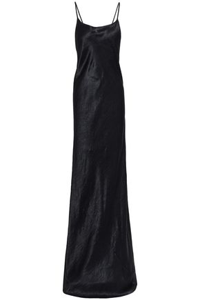 ANN DEMEULEMEESTER Open-back crinkled-satin gown