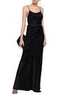 ANN DEMEULEMEESTER Open-back crinkled-satin gown