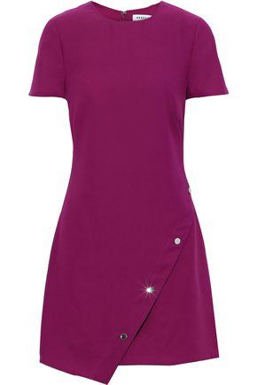 REBECCA MINKOFF Barbara button-detailed crepe mini dress