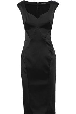 ZAC POSEN Stretch-satin dress