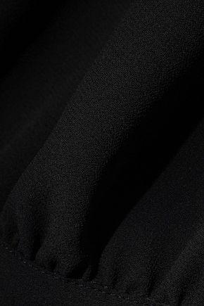 REBECCA MINKOFF Zariah tie-back gathered georgette top