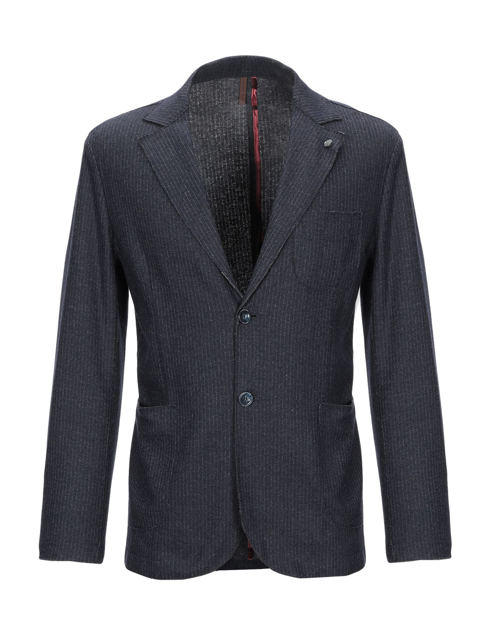 《期間限定 セール開催中》LABORATORI ITALIANI メンズ テーラードジャケット スチールグレー 48 コットン 55% / バージンウール 31% / ナイロン 12% / カシミヤ 2%