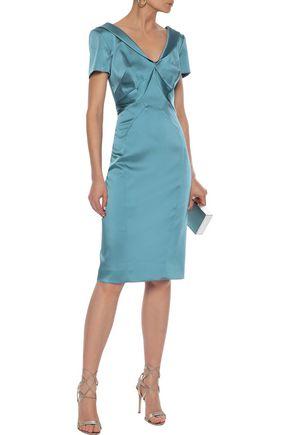 Zac Posen Dresses ZAC POSEN WOMAN SATIN DRESS SKY BLUE