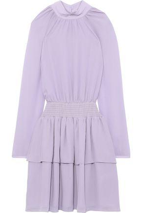 REBECCA MINKOFF Zaykee tiered shirred georgette mini dress