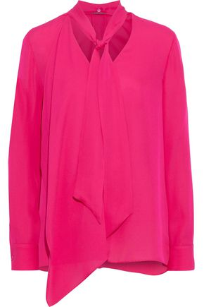 ELIE TAHARI Marzy pussy-bow silk crepe de chine blouse
