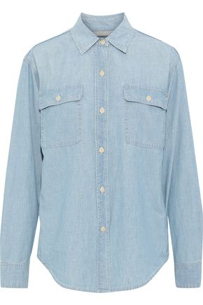 VINCE. Cotton-chambray shirt