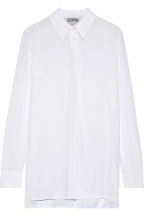 VINCE. Silk-chiffon shirt