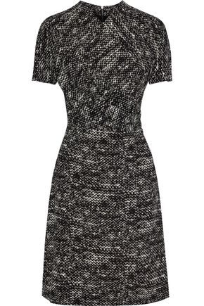 BOTTEGA VENETA Wrap-effect printed stretch-crepe dress