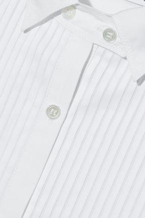 J.W.ANDERSON Paneled pintucked cotton-poplin shirt