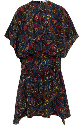 J.W.ANDERSON Paneled gathered printed silk dress