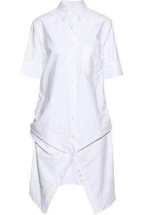 THOM BROWNE Bow-detailed cotton-poplin shirt