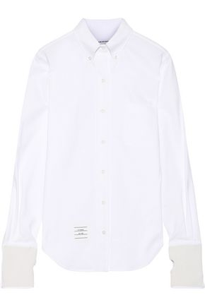 THOM BROWNE Cotton-piqué shirt