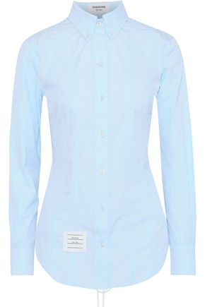 THOM BROWNE Lace-up cotton-poplin shirt