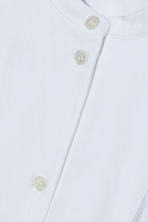 J.W.ANDERSON Fluted grosgrain-trimmed cotton-poplin tunic
