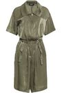 DKNY Belted moire playsuit