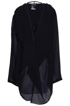 ANN DEMEULEMEESTER Twist-front crepe de chine mini dress