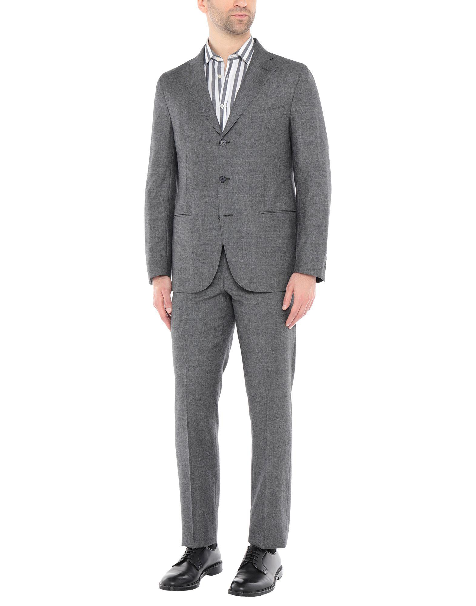《送料無料》BAGNOLI Sartoria Napoli メンズ スーツ 鉛色 46 ウール 100%