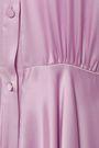 CO Belted satin midi shirt dress