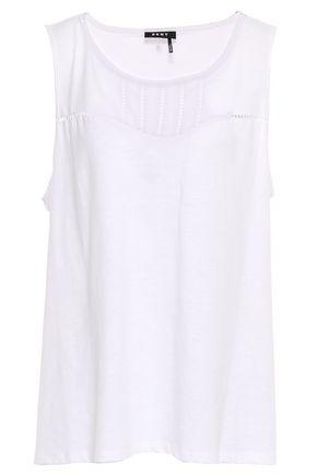 DKNY Slub cotton-blend jersey tank