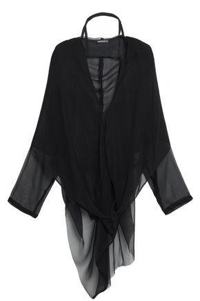 ANN DEMEULEMEESTER Leonora silk-voile hooded blouse