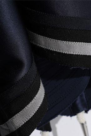 J.W.ANDERSON Stretch-knit and embellished silk-blend satin midi dress