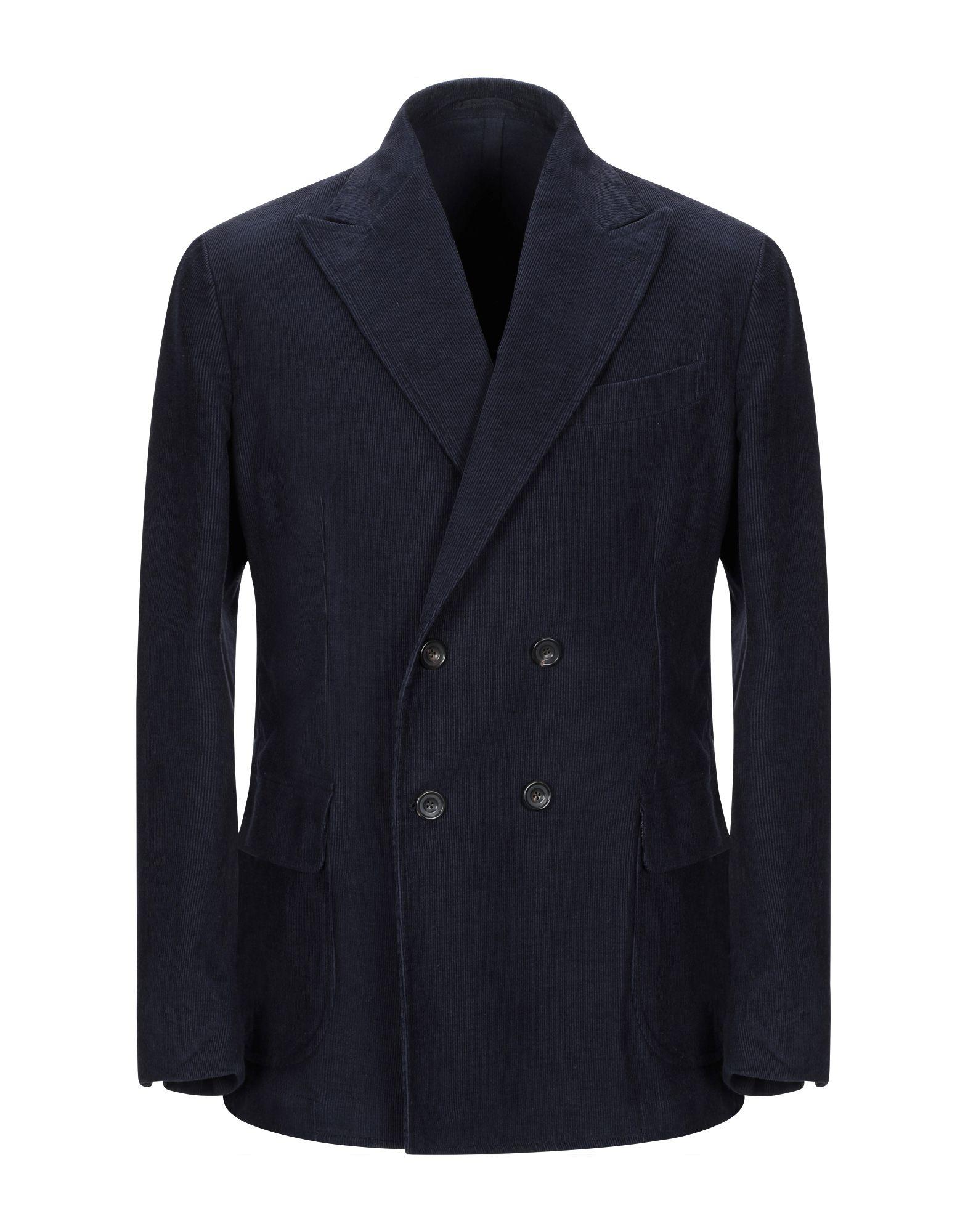 《期間限定セール開催中!》DOPPIAA メンズ テーラードジャケット ダークブルー 46 コットン 85% / 麻 15%