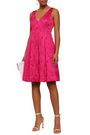 ELIE TAHARI Camelia embroidered jacquard dress