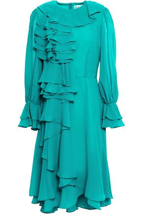 MIKAEL AGHAL Ruffled chiffon dress