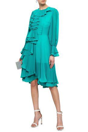 MIKAEL AGHAL Ruffled chiffon dress