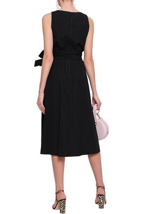 ALICE + OLIVIA Belted cotton-poplin dress